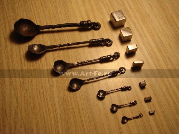 Кованые ложечки, коллекция в музей ЛЕВША, Санкт Петербург