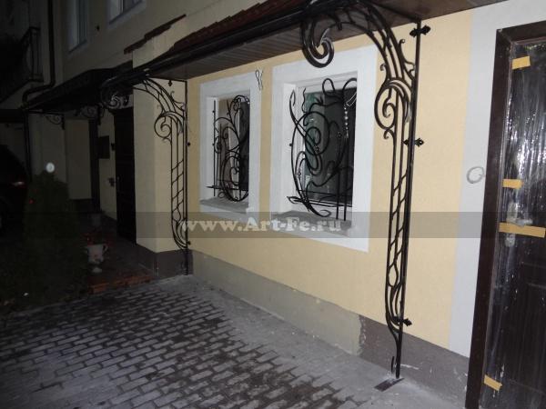 Кованые оконные решетки в стиле МОДЕРН