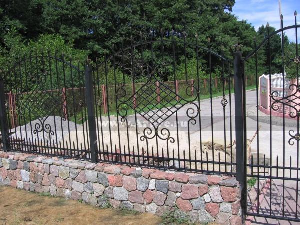Стандартный кованый забор. Вариант КАК У СОСЕДА.